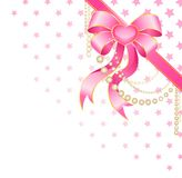 Big pink bow Stock Photography