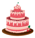 Big pink cake Stock Photos