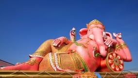 Big pink Ganesha against blue sky Royalty Free Stock Images