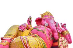 Big pink Ganesha in relax pose Royalty Free Stock Images