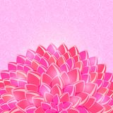 Big Pink Half Flower in the Bottom Stock Photo