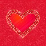 Big Pink Heart Card with Light Pattern Royalty Free Stock Images