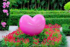 Big pink heart Stock Photo