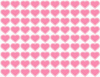 Big Pink Hearts Seamless Background vector illustration