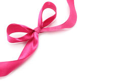 Big pink holiday bow Royalty Free Stock Photography