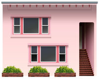 A big pink house Stock Images