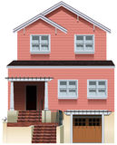 A big pink house Stock Photography