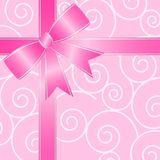Big Pink Ribbon Bow Stock Image