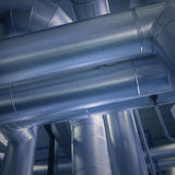 Big Pipes. Big air duct pipes cöose up royalty free stock image