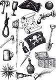 Big Pirate Set Stock Image