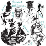 Big pirattes collection 2. Jpeg and vector picture with pirate theme Royalty Free Stock Photos