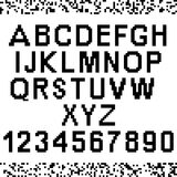 Big pixel letters and numbers Stock Photos