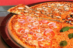 Big Pizza. Very big and tasty Pizza Royalty Free Stock Photography