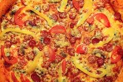 Big pizza texture Stock Photography