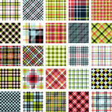 Big plaid pattern set Stock Image