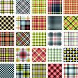 Big plaid pattern set Stock Image