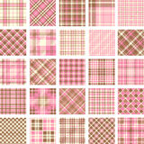 Big plaid pattern set Stock Photos