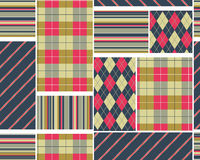 Big plaid pattern set Royalty Free Stock Photography