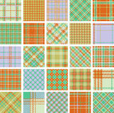 Big plaid patterns set Stock Image