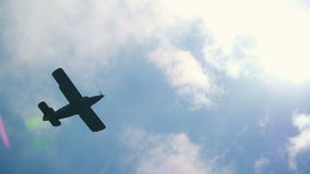 Big plane in air. Airshow stock footage