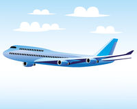 Big plane vector illustration