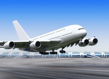 Big plane in airport Royalty Free Stock Image