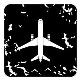 Big plane icon, grunge style Stock Images