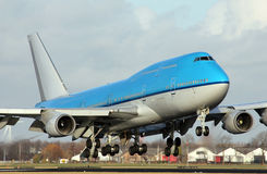 Big plane landing royalty free stock images
