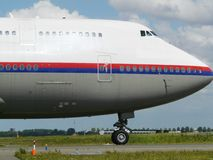 Big plane taxiing Stock Images