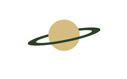 Big planet with a green ring Stock Image