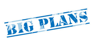 Big plans blue stamp Royalty Free Stock Image