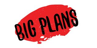 Big Plans rubber stamp Royalty Free Stock Photos