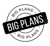 Big Plans rubber stamp Royalty Free Stock Images