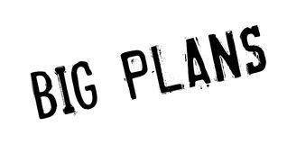 Big Plans rubber stamp Stock Photography