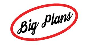 Big Plans rubber stamp Royalty Free Stock Image
