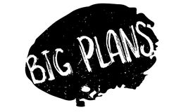 Big Plans rubber stamp Stock Photos