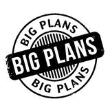 Big Plans rubber stamp Stock Image