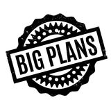 Big Plans rubber stamp Stock Images