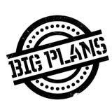 Big Plans rubber stamp Stock Photos