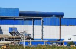 Big plant for processing scrap metal stock photos