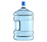Big plastic barrel, bottle with a handle for office water cooler. 3D render, isolated on white background Stock Photo
