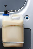 Big plastic container, liquid dispenser pump industry detail Stock Image