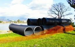 Big plastic pipe Royalty Free Stock Image
