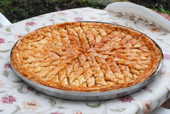Big plate with serbetli trukish baklava Royalty Free Stock Photo