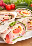 Big Plate of Wraps Stock Images