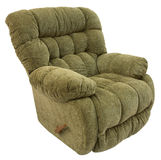 Big and Plush Rocker Recliner. In Sage Acrylic Fabric Stock Photography