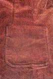 Big pocket of velvet jacket Stock Photography