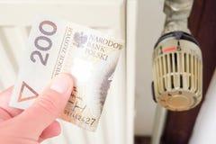 Big polish heating costs Royalty Free Stock Photography