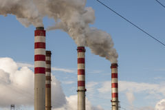 Big pollution in Polish Power Plant - Patnow, Koni Royalty Free Stock Photo