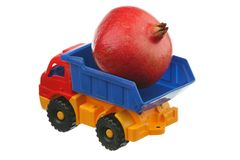 Big pomegranate in the truck Royalty Free Stock Images